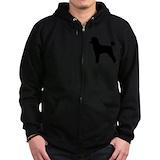 Black poodle Zip Hoodie (dark)