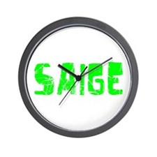 Saige Faded (Green) Wall Clock