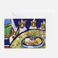 WELSH CORGI birthday party! Greeting Cards (Packag