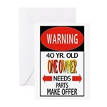 40 Year Old Greeting Cards (Pk of 10)