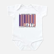 Haiti Ind. Date, Motto - Infant Bodysuit