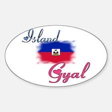 Island Gyal - Haiti Oval Decal