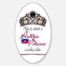 Haitian Princess - Oval Decal