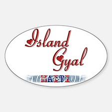Island Gyal - Haiti - Oval Decal
