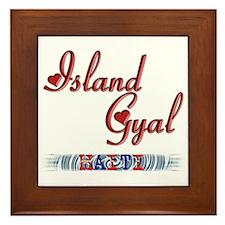 Island Gyal - Haiti - Framed Tile