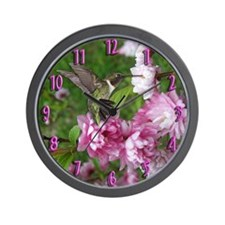 Male Hummingbird Wall Clock