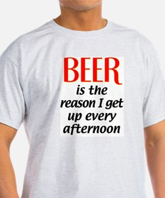 Beer is the Reason Ash Grey T-Shirt