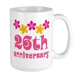26th anniversary Large Mugs (15 oz)