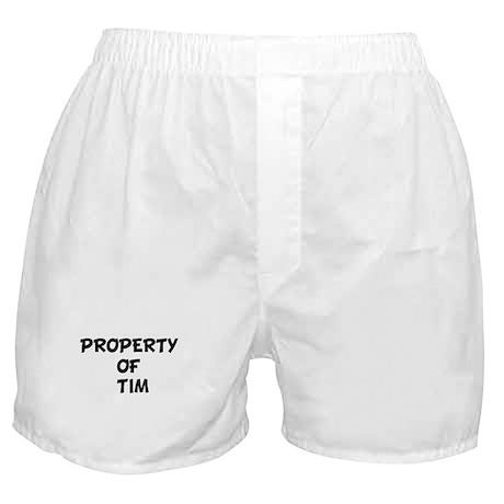 PROPERTY OF TIM Boxer Shorts