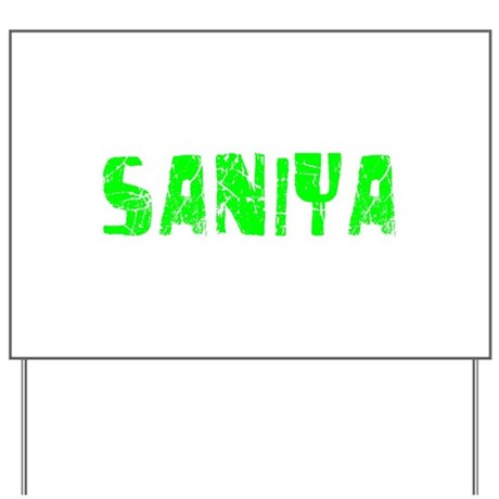 Saniya Faded (Green) Yard Sign