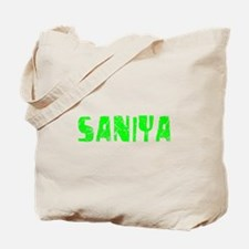Saniya Faded (Green) Tote Bag