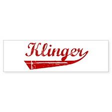 Klinger (red vintage) Bumper Bumper Sticker