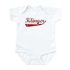 Klinger (red vintage) Infant Bodysuit