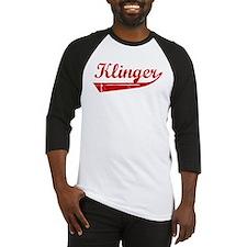 Klinger (red vintage) Baseball Jersey