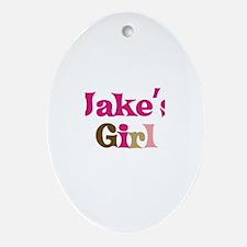 Jake's Girl Oval Ornament