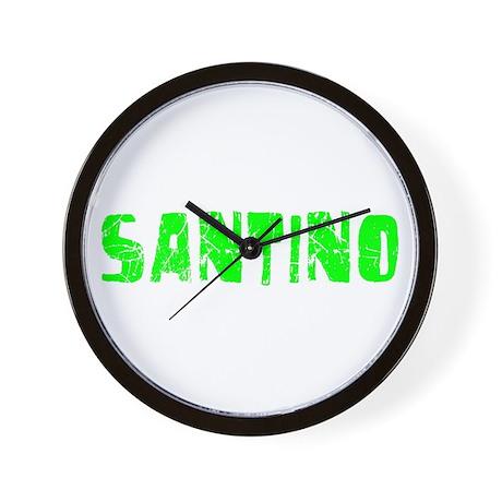 Santino Faded (Green) Wall Clock