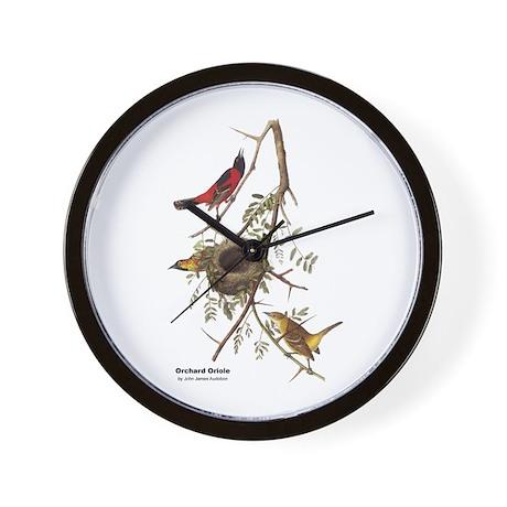 Audubon Orchard Oriole Birds Wall Clock