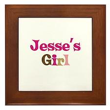 Jesse's Girl Framed Tile