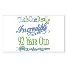 Incredible 92nd Rectangle Decal