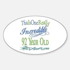 Incredible 92nd Oval Decal