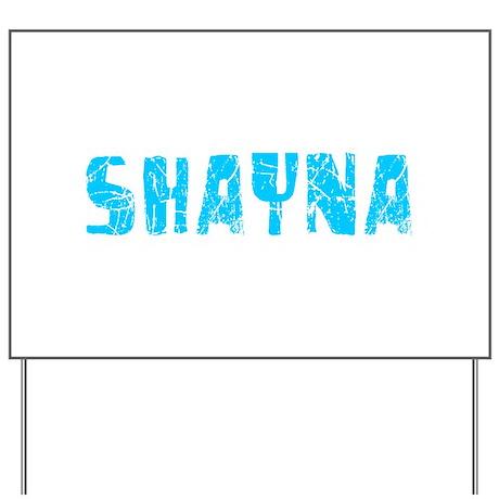 Shayna Faded (Blue) Yard Sign