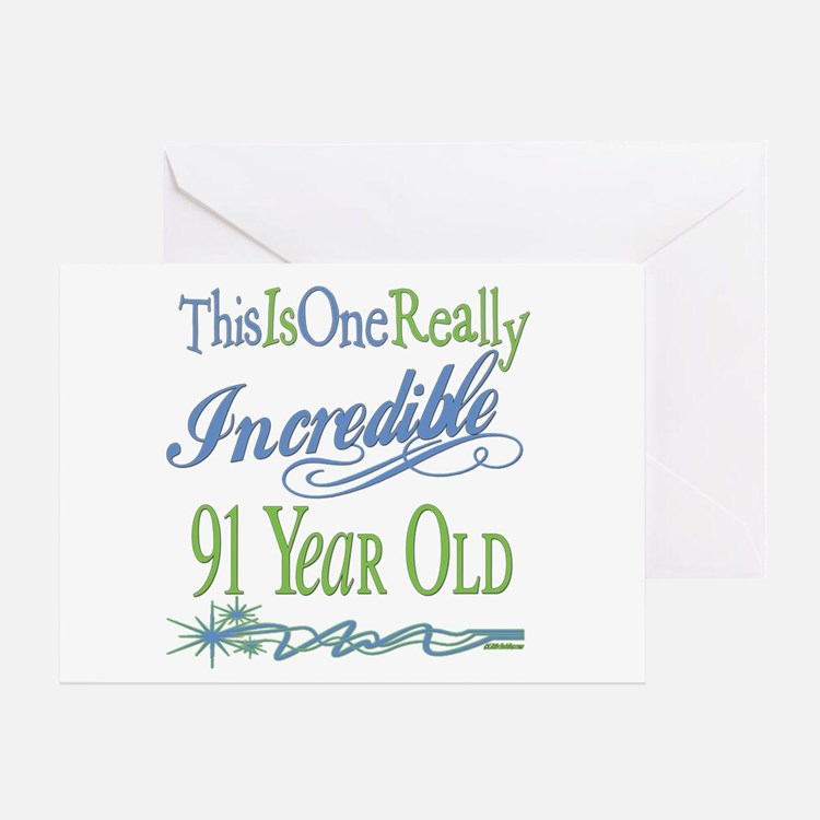 Incredible 91st Greeting Card