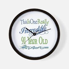 Incredible 91st Wall Clock