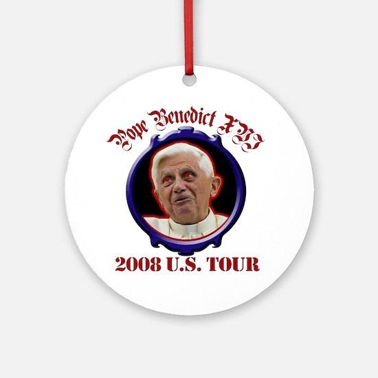 Pope Benedict XVI 2008 U.S. Tour Ornament (Round)