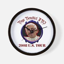 Pope Benedict XVI 2008 U.S. Tour Wall Clock