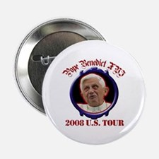 """Pope Benedict XVI 2008 U.S. Tour 2.25"""" Button (100"""