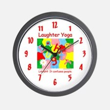 Laughter Yoga LAUGH Wall Clock