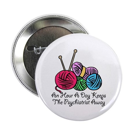 """An Hour A Day... (2) 2.25"""" Button (100 pack)"""