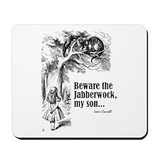 """Carroll """"Beware"""" Mousepad"""