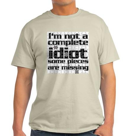 Idiot Jigsaw Ash Grey T-Shirt