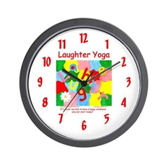Laughter Yoga HAPPY CHILDHOOD Wall Clock