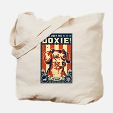 Obey the Doxie! USA Dachshund Tote Bag