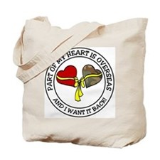 Half of my heart is overseas Tote Bag
