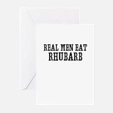 Real Men Eat Rhubarb Greeting Cards (Pk of 10)