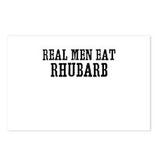 Real Men Eat Rhubarb Postcards (Package of 8)