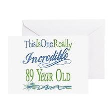 Incredible 89th Greeting Card