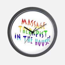 Massage in the house Wall Clock