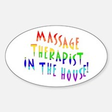 Massage in the house Oval Decal