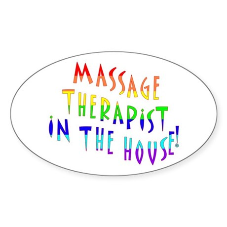Massage in the house Oval Sticker