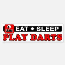 Play Darts Bumper Bumper Sticker