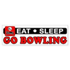 Go Bowling Bumper Sticker