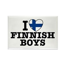 I Love Finnish Boys Rectangle Magnet