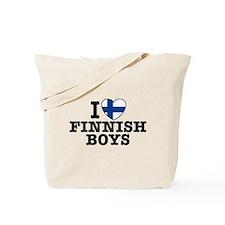 I Love Finnish Boys Tote Bag