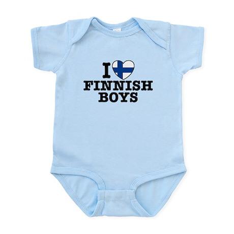 I Love Finnish Boys Infant Bodysuit