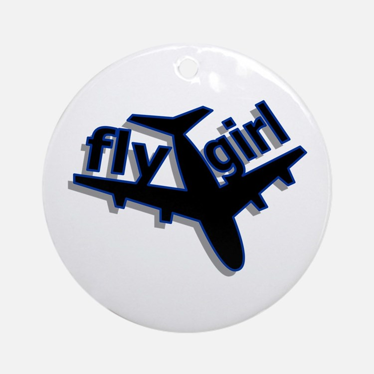 Fly Girl Ornament (Round)