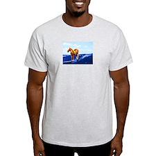 Mr. Ed Surfs Ash Grey T-Shirt